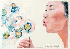 Woman-Blowing-Bubbles